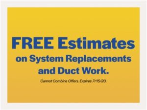 free estimates on system replacements and duct work coupon