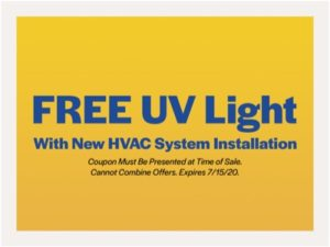 free uv light coupon