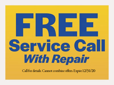 FREE Service Call with repair coupon